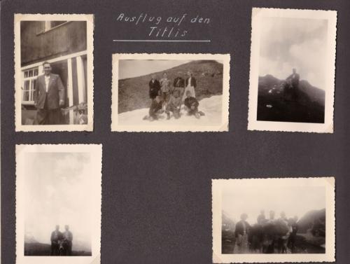 1954 04 Jung-Radler Ferien Ausflug auf den Titlis