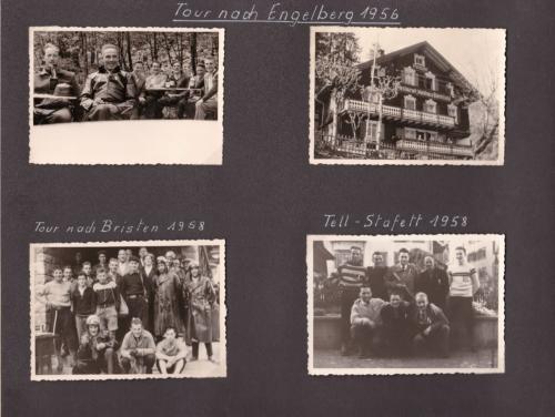 1956 08 Engelberg 1956 Bristen 1958  Tell-Stafette 1958