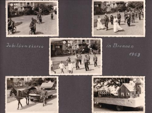 1958 09 Jubiläumskorso in Brunnen